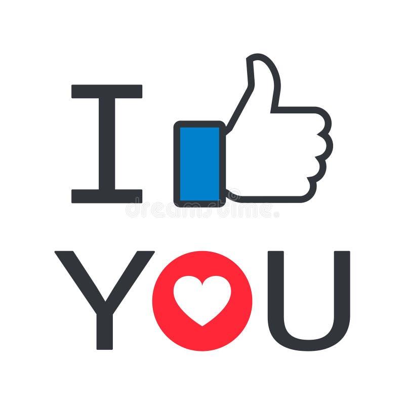I like facebook. Simple vector filled flat i like facebook thumb heart icon logo isolated on white background. social media icon stock illustration