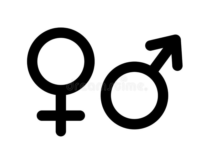 Male and female sex symbol. Simple vector filled flat in Male and female sex symbols icon solid pictogram isolated on white background vector illustration