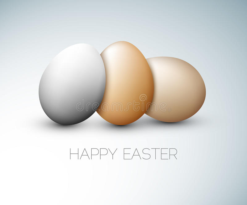 Simple Vector Happy Easter Card Royalty Free Stock Images