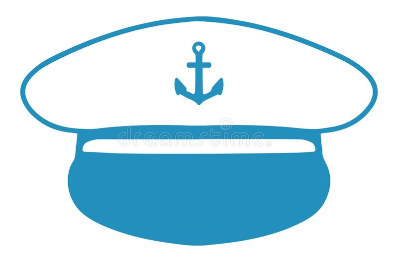 Vector icon of a nautical captain`s hat vector illustration