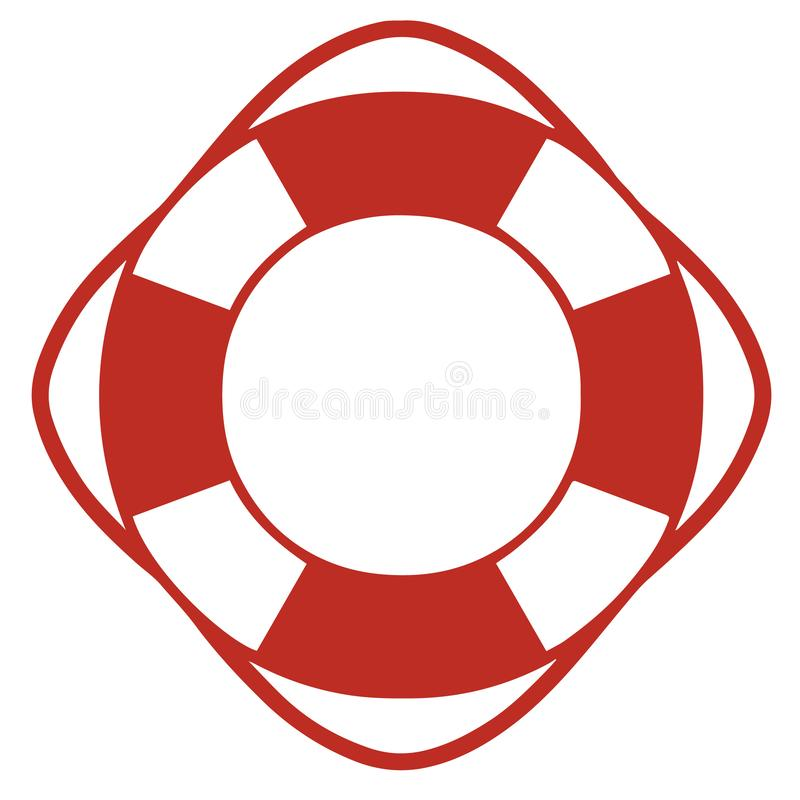 Simple vector icon of a round lifesaver vector illustration