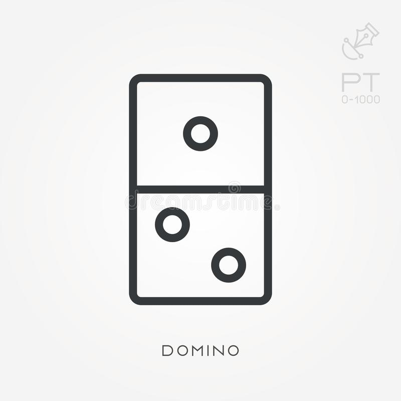 Simple vector illustration with ability to change. Line icon domino stock illustration