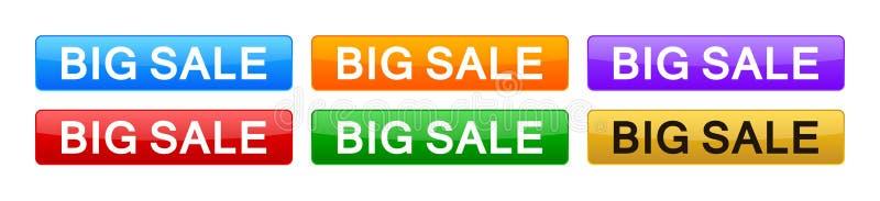 Big sale button stock photo