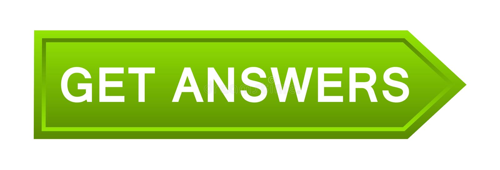 Get answers button stock photography