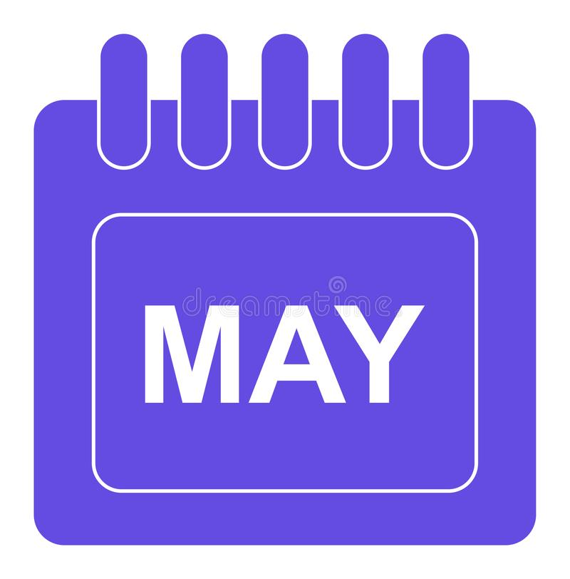 Vector may on monthly calendar icon vector illustration