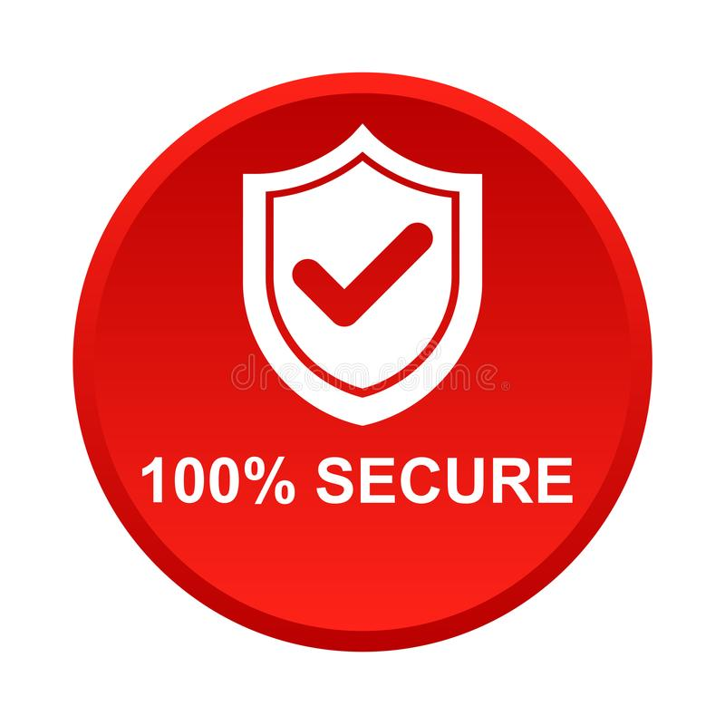 100 secure button stock vector. Illustration of login