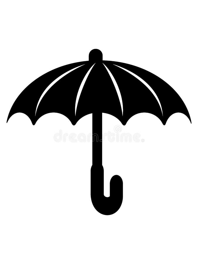 Weather Forecast App Icon for Umbrella Rain. Simple Vector Illustration of a Weather Forecast App Icon for Umbrella Rain royalty free illustration