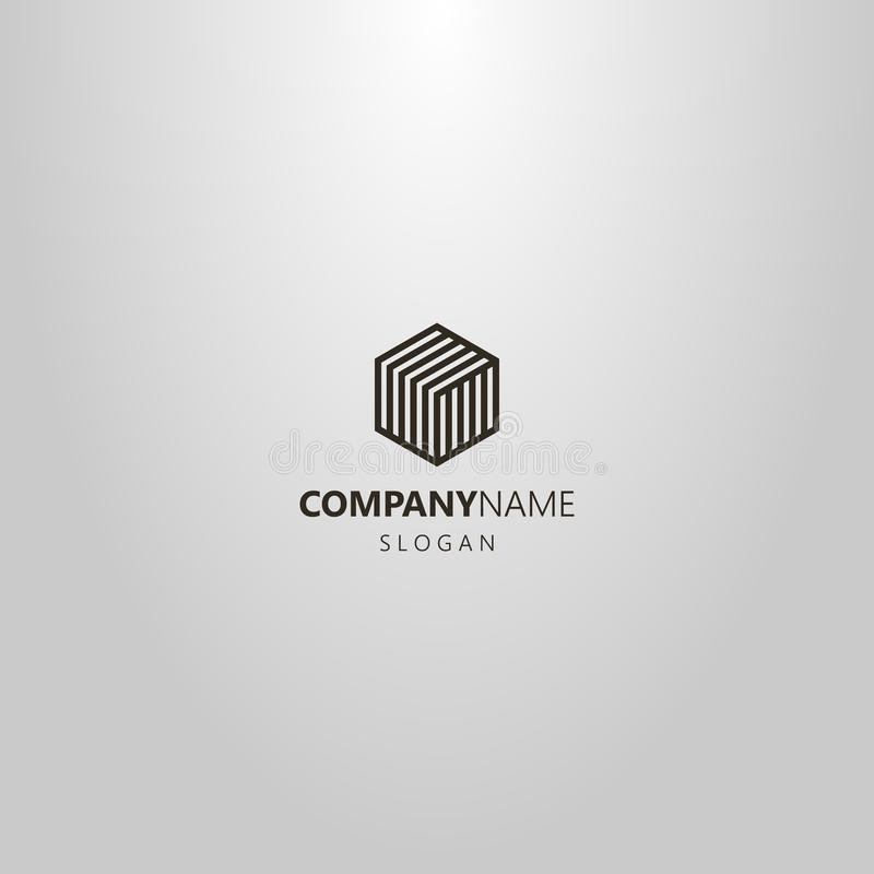 T D Logo In Hexagonal Shape Stock Vector