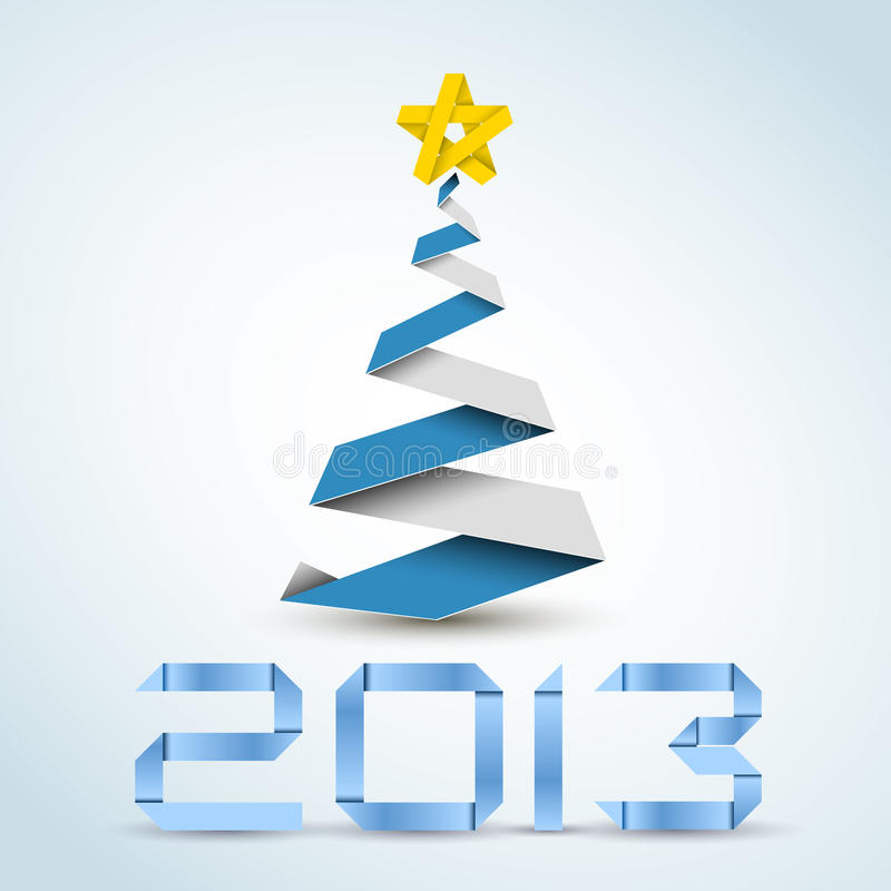 Download Simple Vector Paper Christmas Tree Stock Vector - Image: 25926816