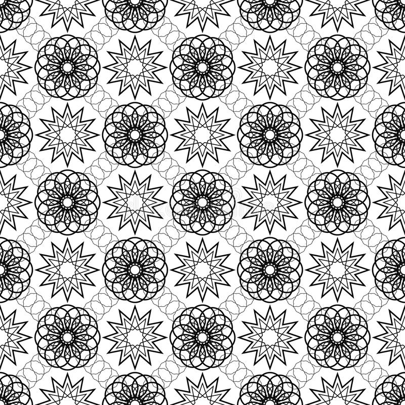 Simple vector seamless black and white background, texture. Endless texture can be used for wallpaper, pattern fills, web page background,surface textures royalty free illustration