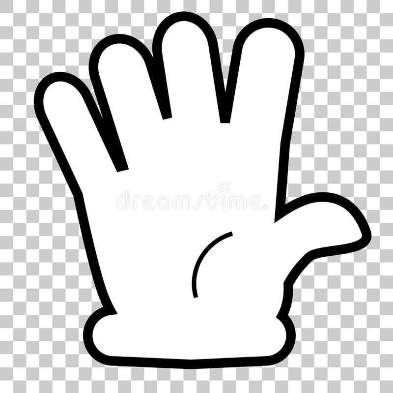 Counting or Vote Hand, Five or surrender. Simple Vector Silhouette Counting or Vote Hand, Five or surrender stock illustration