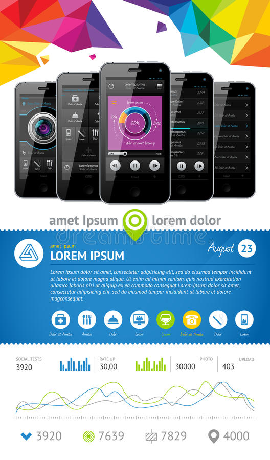 Download Simple Vector Template Interface Stock Vector - Illustration: 24308262