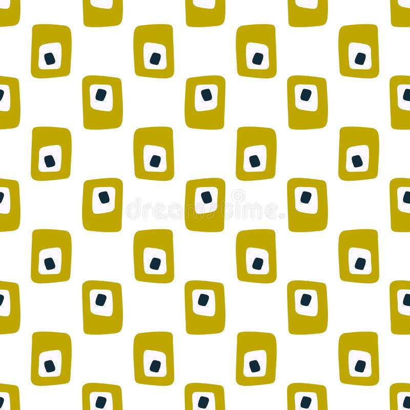 Simple vintage abstract seamless pattern. For fabric vector illustration