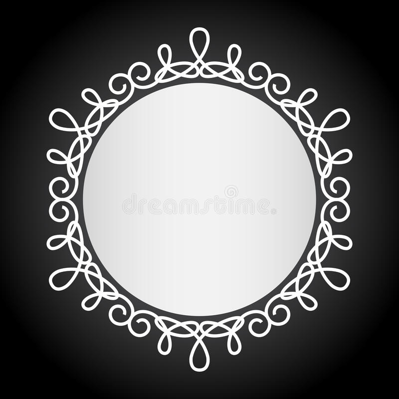 Simple Vintage Black And White Frame Stock Vector - Illustration of ...