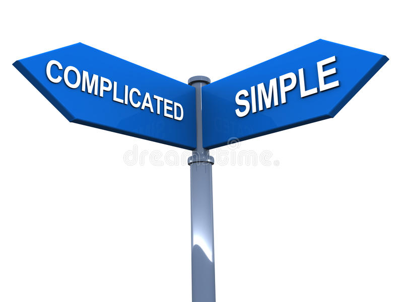 Download Simple vs complicated stock illustration. Image of street - 30748925