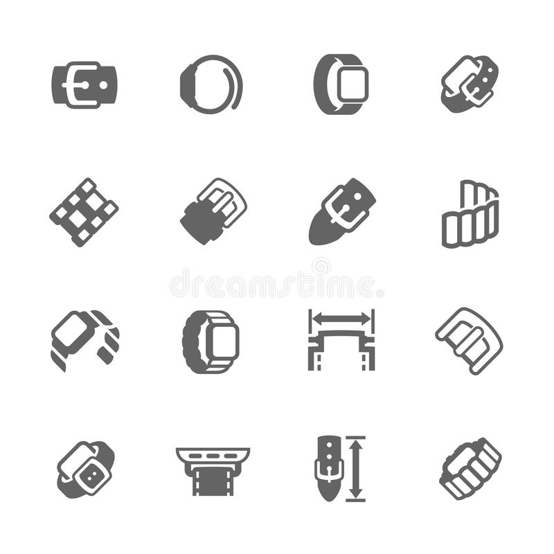 Simple Watch Band Icons vector illustration