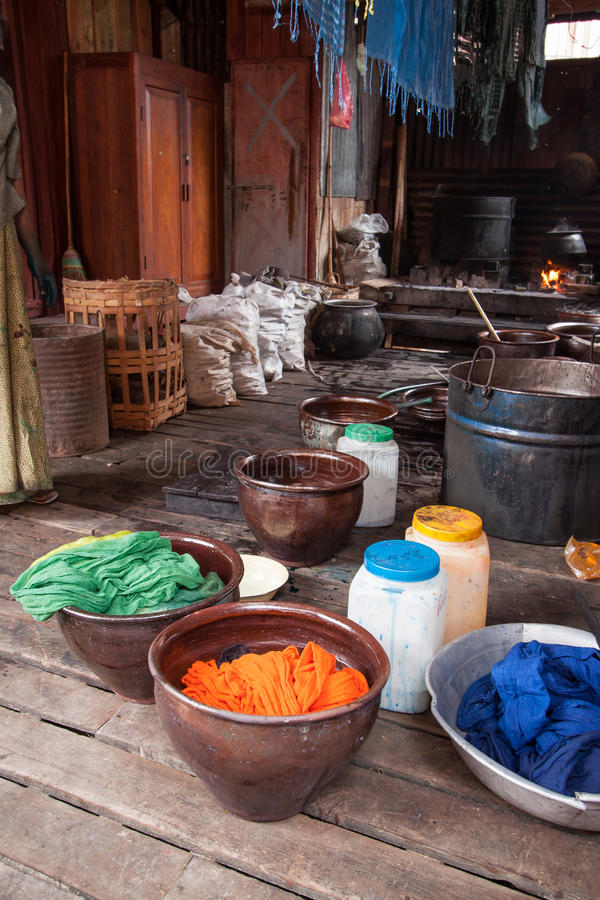A simple way to dye fabric at home royalty free stock images
