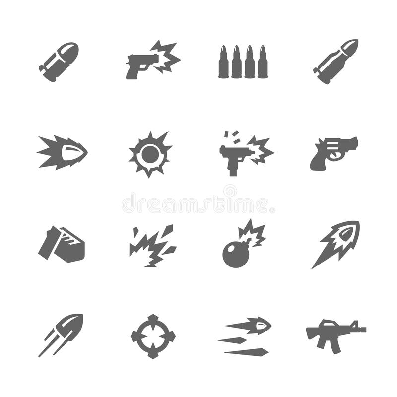 Simple Weapon Icons royalty free illustration