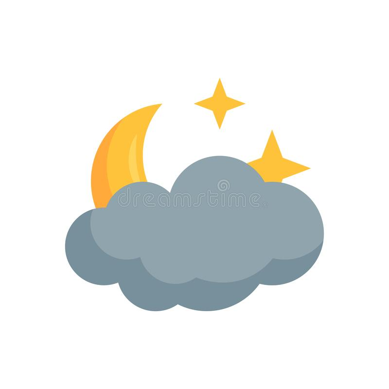 Simple weather vector icon in flat style vector illustration