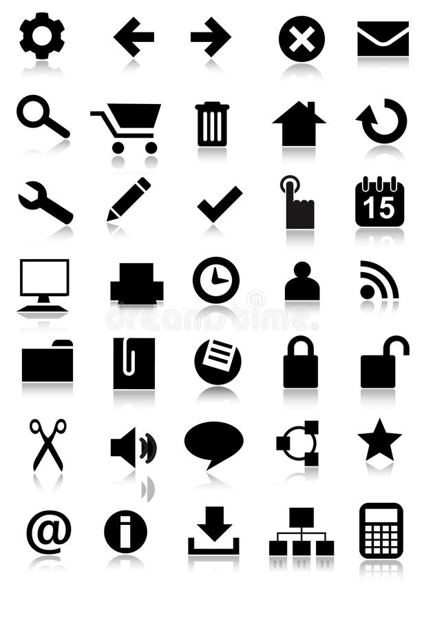 Download Simple Web Icon Set Application Royalty Free Stock Images - Image: 18566839