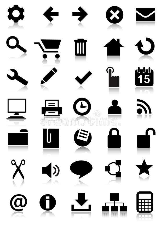 Free Simple Web Icon Set Application Royalty Free Stock Images - 18630829