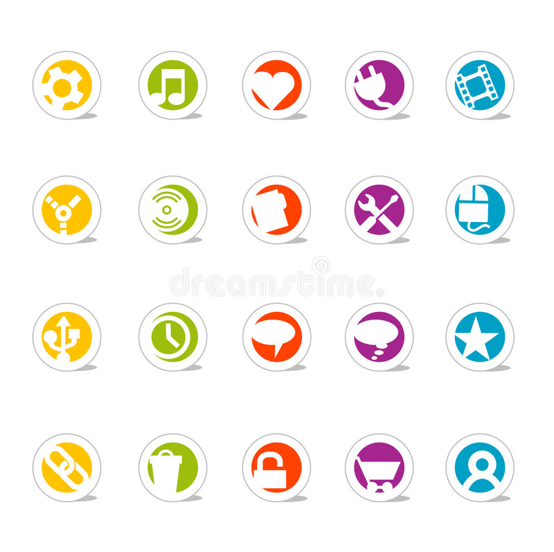 Simple Web Icons 2 (vector) stock illustration