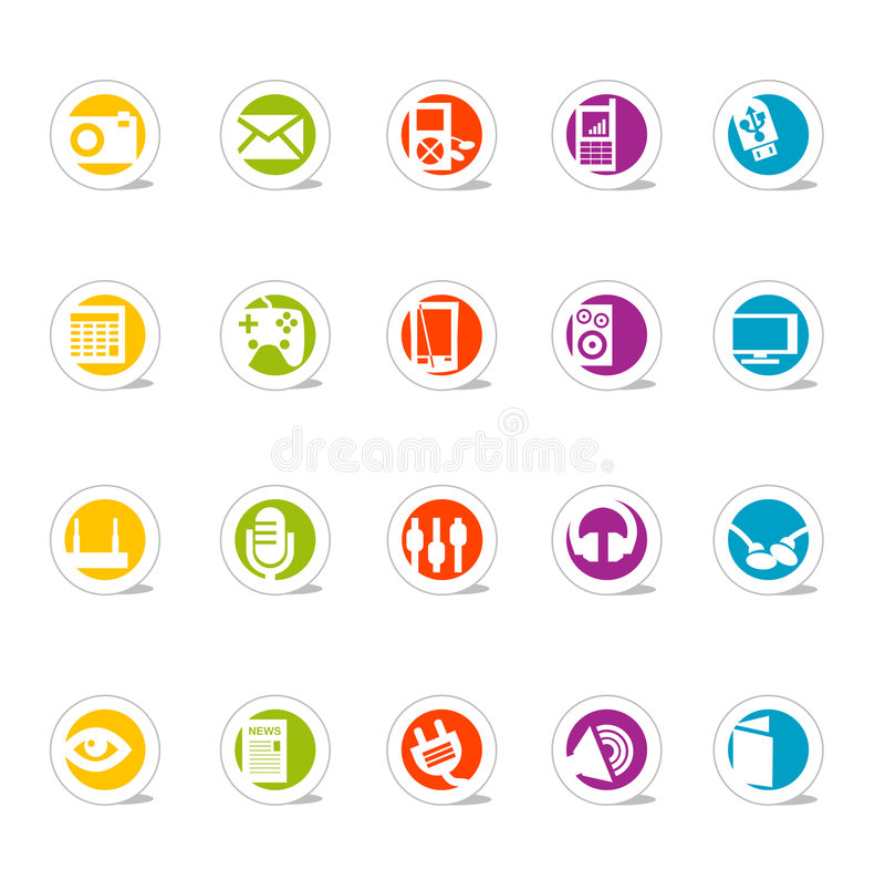 Free Simple Web Icons Media (Vector Royalty Free Stock Photos - 2602338