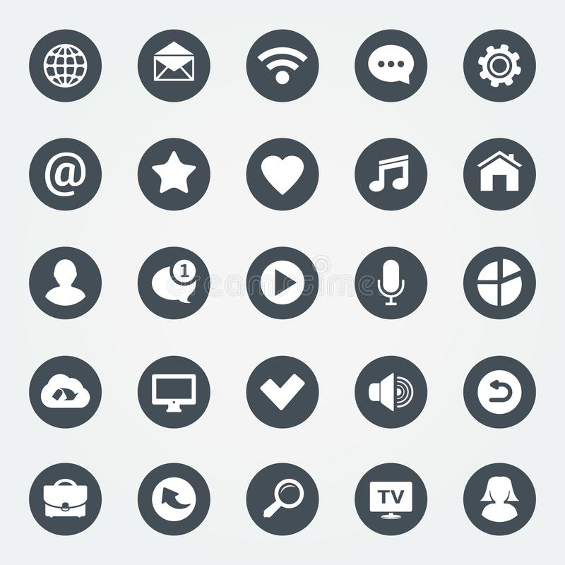 Simple web icons set. Universal web icon to use in web and mobile apps. vector illustration