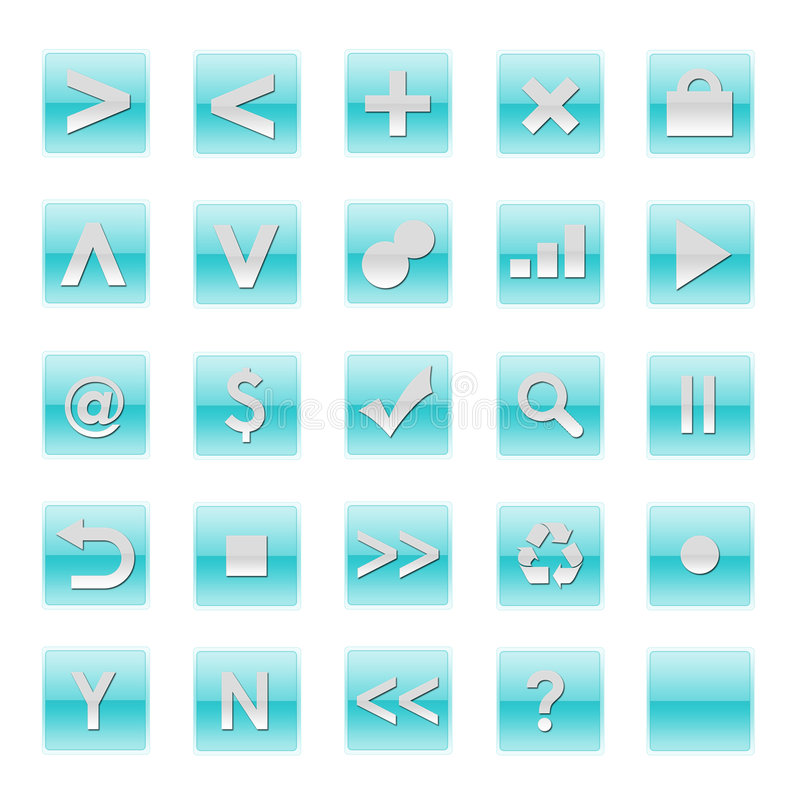 Download Simple Web Software Internet Buttons Stock Image - Image: 6390841