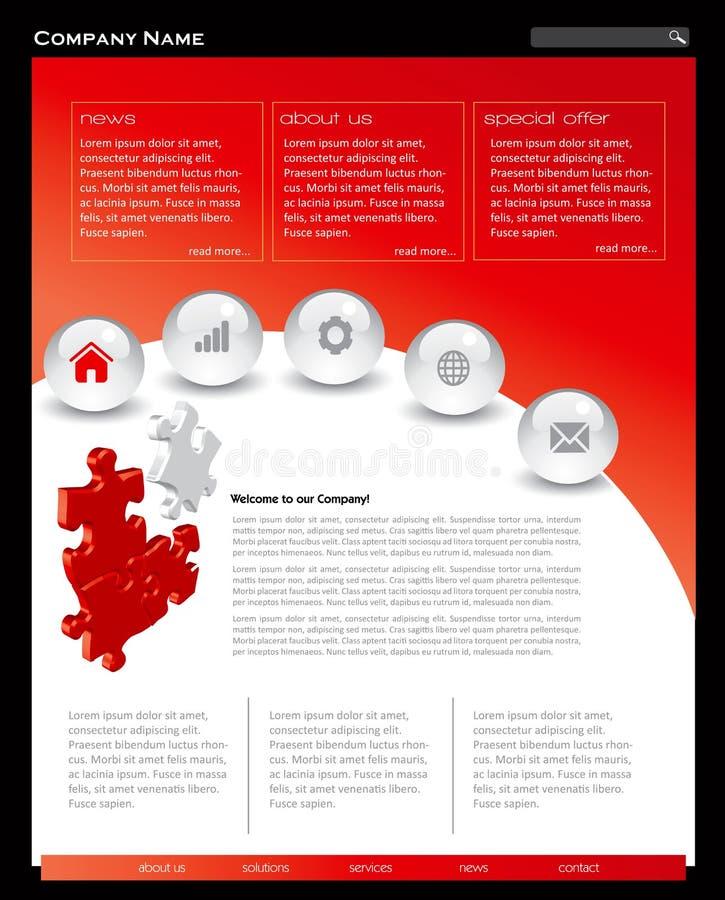 Simple Website Template: Simple Website Template Stock Vector. Illustration Of