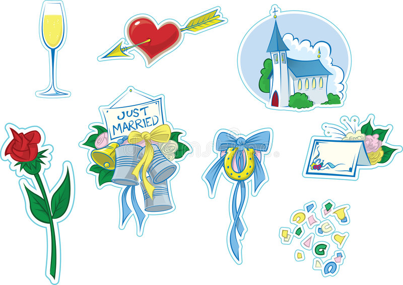Simple Wedding Icons #2 royalty free illustration