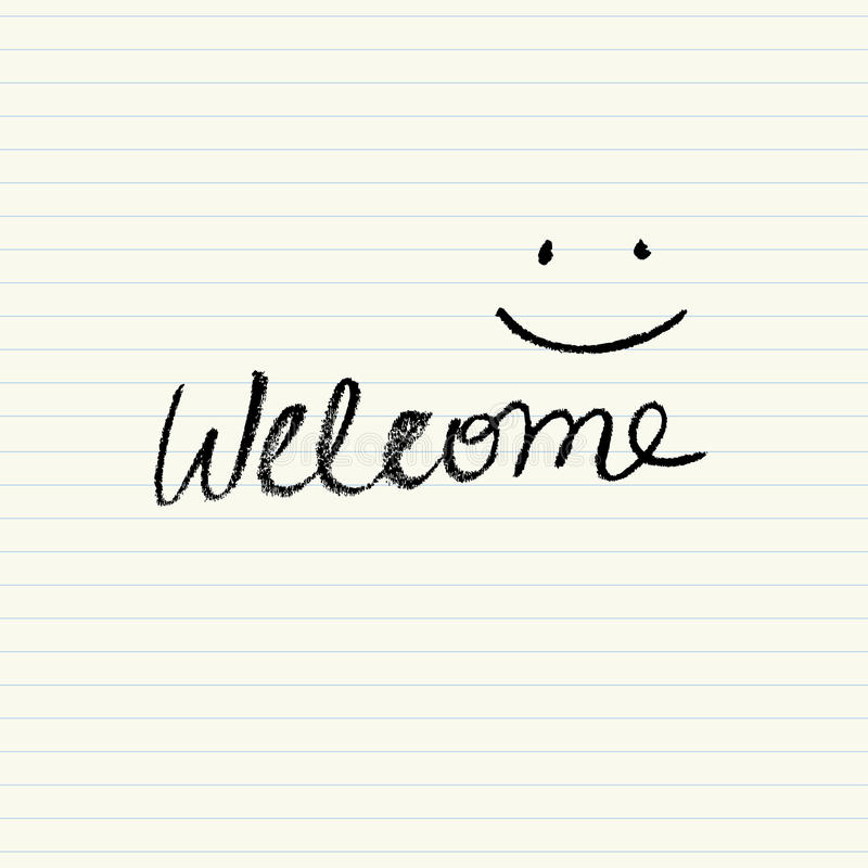 Download Simple Welcome sign stock vector. Illustration of message - 52779251