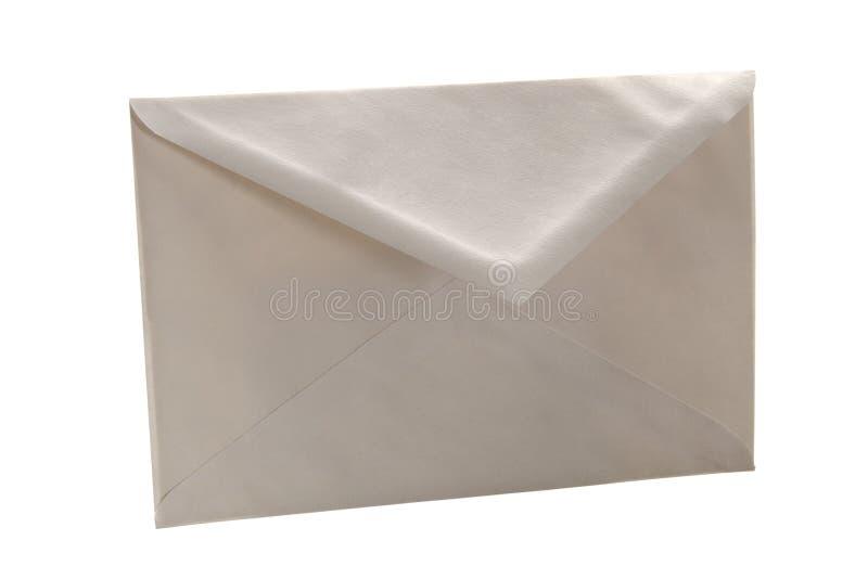 Simple white cheap envelope stock photo