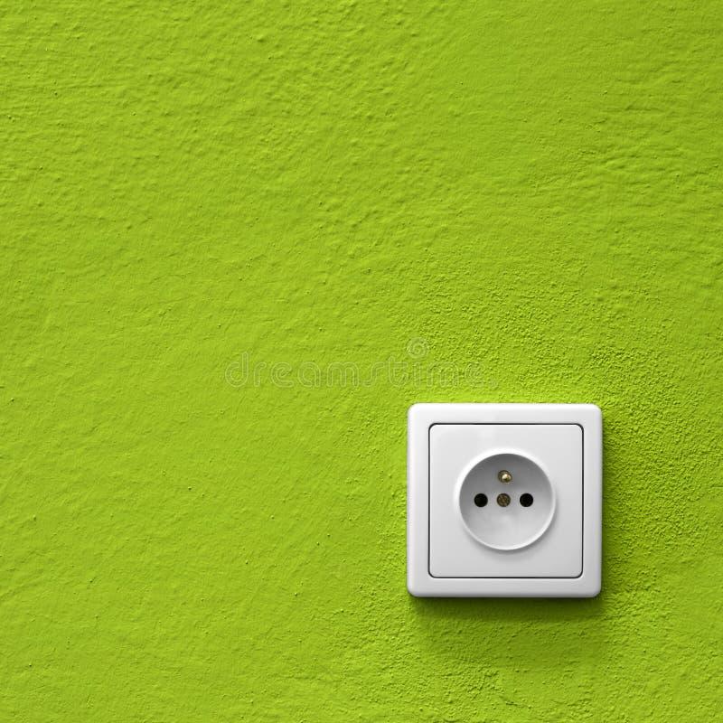 Green power socket royalty free stock photo