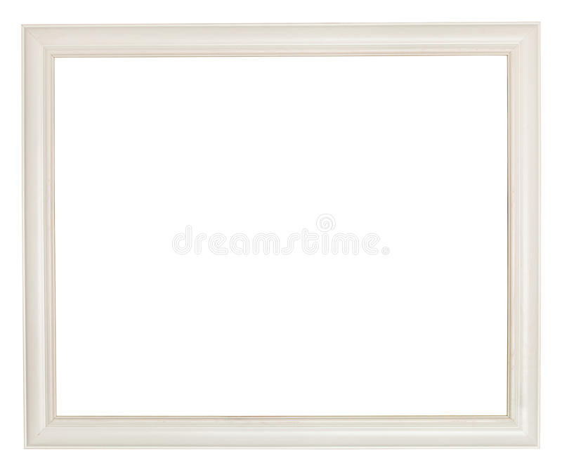 Simple White Painted Wooden Picture Frame Stock Photo - Image of ...