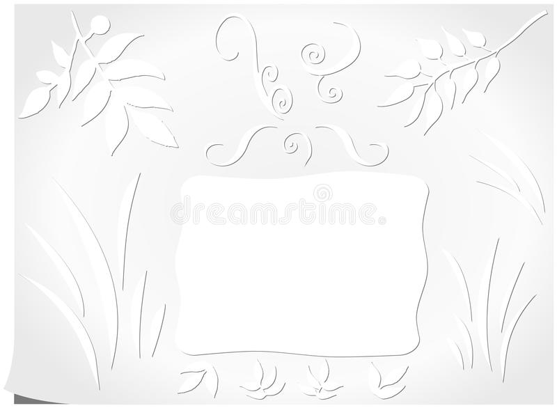 Download Simple Wish Card With Floral Motives Stock Illustration - Image: 41122174