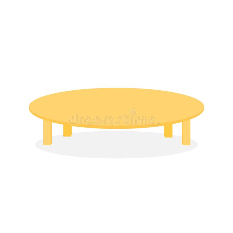 Simple Wood Round Table Furniture Illustration. Simple Wood Round Table Furniture Vector Illustration Graphic Design royalty free illustration