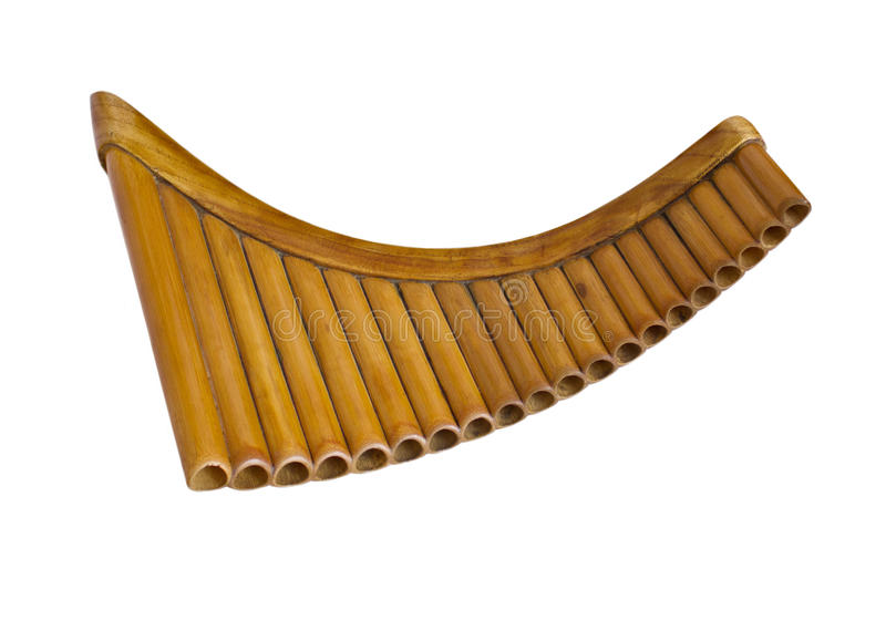 Simple wooden Pan Flute royalty free stock image