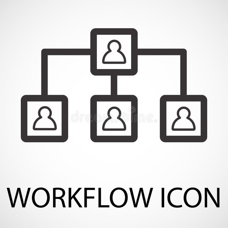 Simple workflow line art icon, vector vector illustration