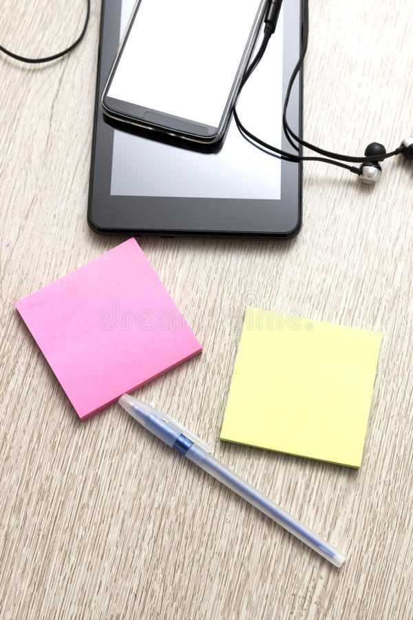Simple workspace stock photography