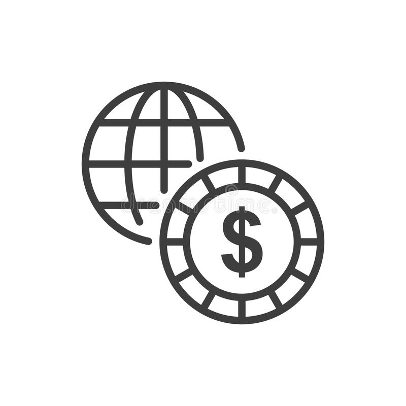 Simple worldwide Business Vector icon. Illustration Style in EPS 10 vector illustration