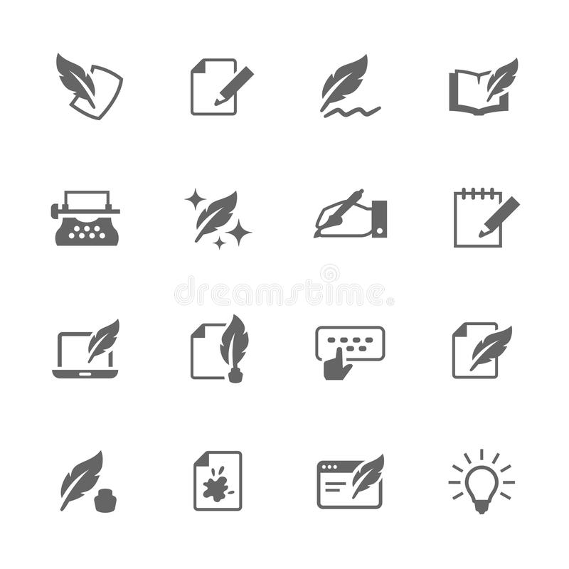 Simple Writing icons vector illustration
