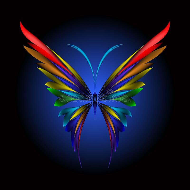 Simplemente mariposa ilustración del vector