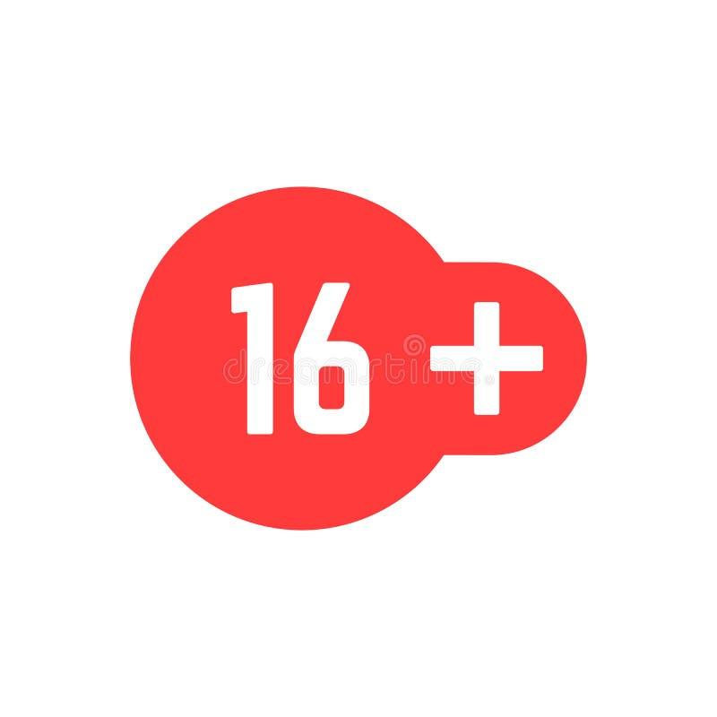 16 simples ícone vermelho positivo ilustração stock