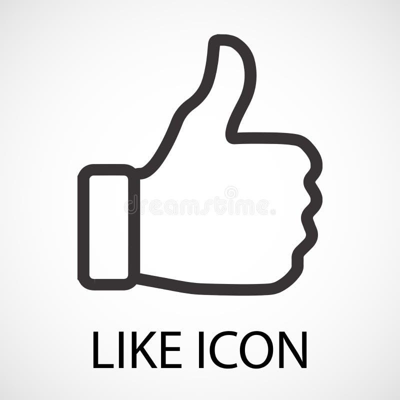 Simples como o ícone, vetor ilustração stock