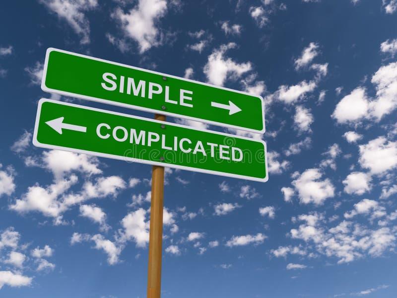 Simples contra complicado ilustração royalty free