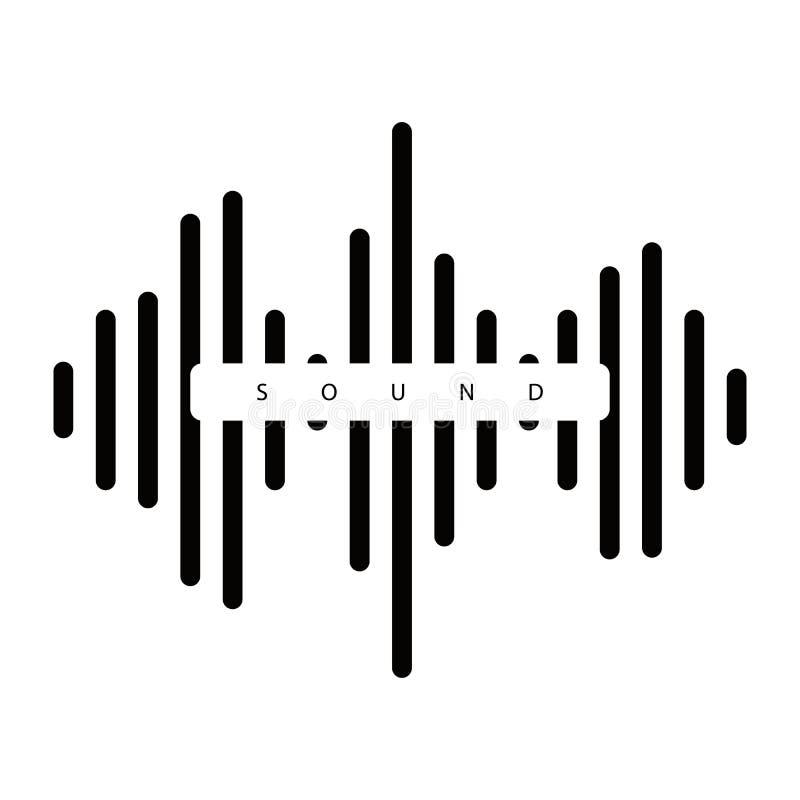 Simples do vetor do ícone da onda sadia isolado no fundo branco eps10 ilustração royalty free