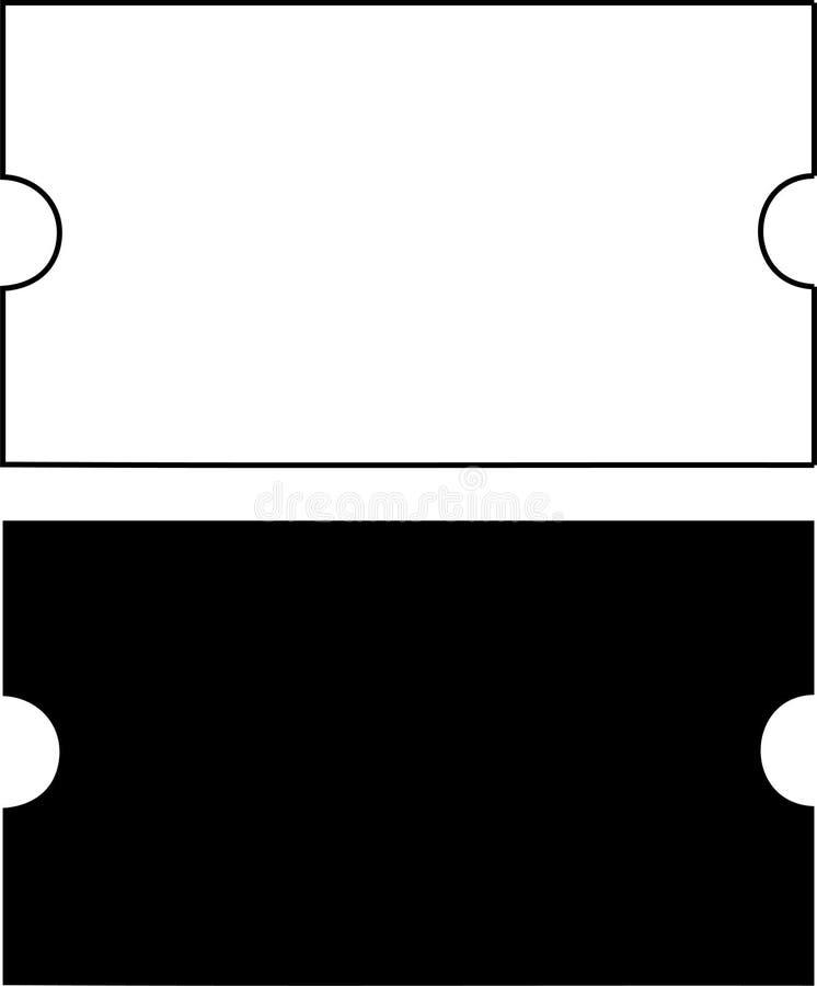 Simples em branco dos bilhetes ilustração do vetor