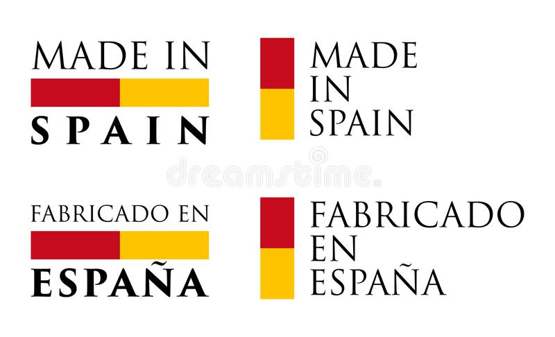 Simples feito tradução do espanhol no en Espana da Espanha/Fabricado ilustração royalty free