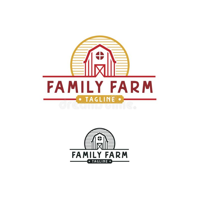 Simples Fita Para Design Do Logotipo Da Fazenda ilustração royalty free